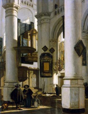 Emmanuel de Witte. The interior of the Church