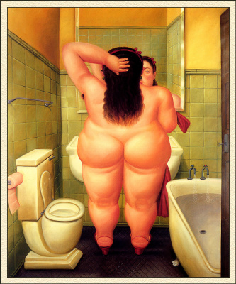 Fernando Botero. Bathroom