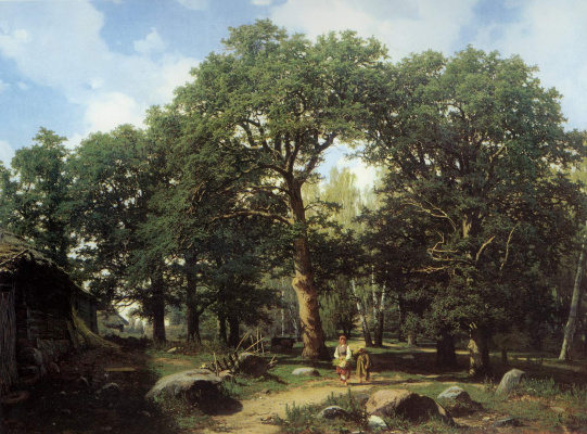 Евгений Эдуардович Дюккер. Дубровый лес в окрестностях Ревеля