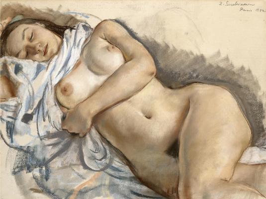 Zinaida Serebryakova. Sleeping Nude