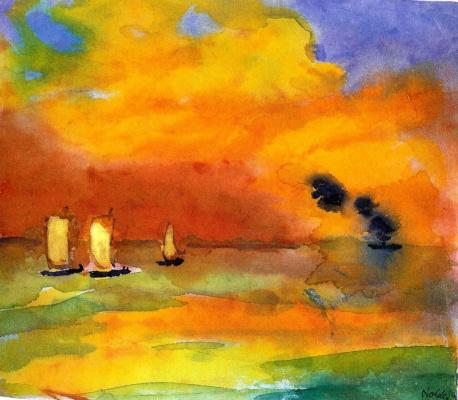 Emil Nolde. Bright sea