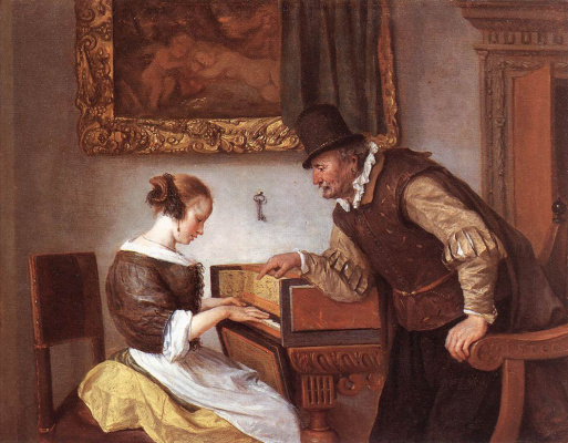 Jan Steen. A lesson on the harpsichord