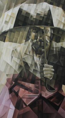 Vasily Krotkov. Rain. Kubofuturizm