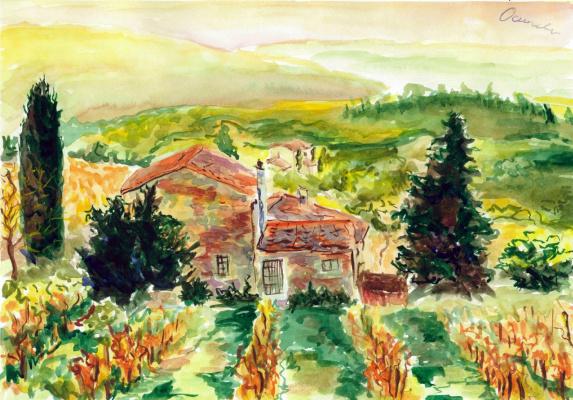 Ekaterina Viktorovna Osipovich. Tuscany Vineyard.