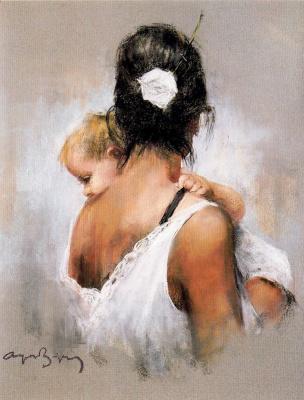 Каэтано де Аркер Буигас. Ребенок на руках у матери