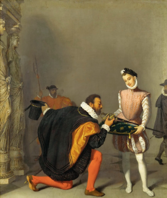 Jean Auguste Dominique Ingres. Don Pedro of Toledo kissing the sword of Henry IV