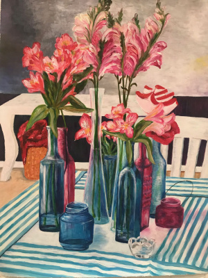 Anastasia Polyakova. Flowers on table