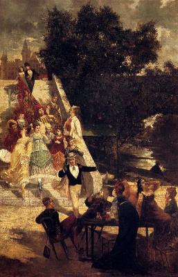 Адольф Монтичелли. Терраса замка Святого Жермена