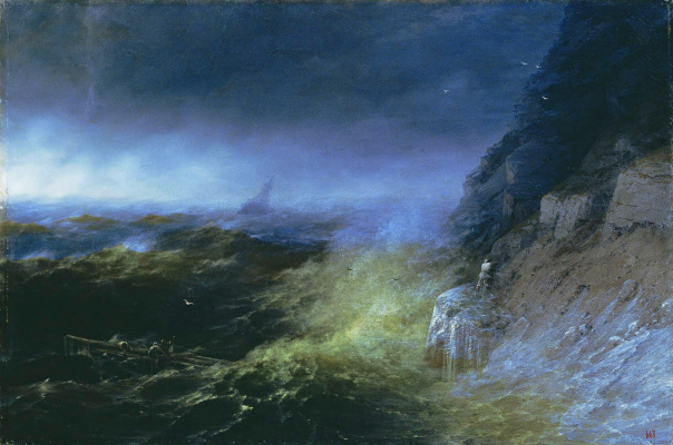 Ivan Aivazovsky. Storm on the Black sea