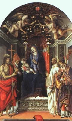 Филиппино Липпи. Богородица на троне