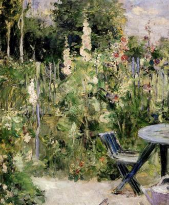 Berthe Morisot. The roses in the garden