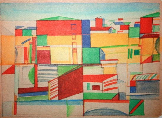 Nikolai Mikhailovich Suetin. Suprematist landscape