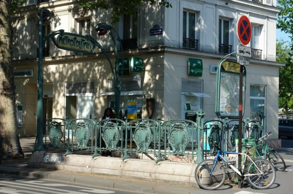 Hector Guimard. Entrance to the Bastille metro, Paris