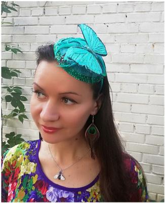"""Natalia Vladimirovna Solntseva. Bezel """"Turquoise Butterfly"""""""