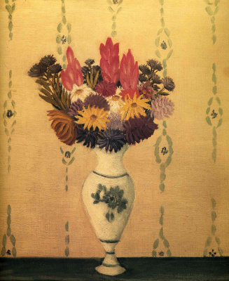 Henri Rousseau. Bouquet in a white vase