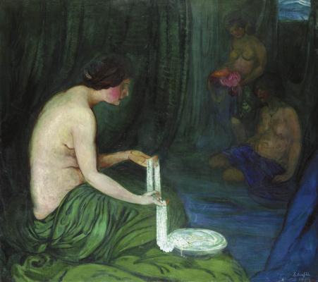Boris Izrailevich Anisfeld. Danae green. 1909-1917