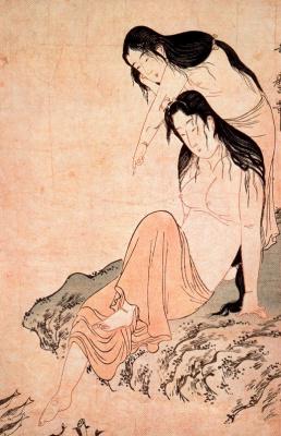 Китагава Утамаро. Ныряльщицы за жемчугом