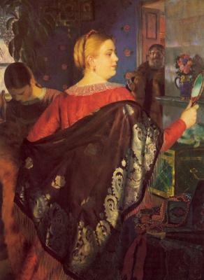 Борис Михайлович Кустодиев. Купчиха с зеркалом