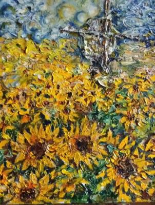 Yuri Valeryevich Churilov. Sunflowers