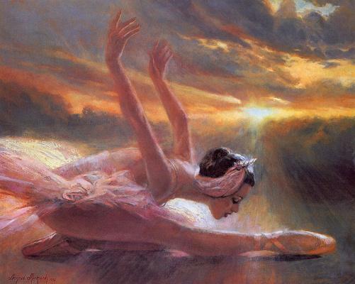 Ненад Миркович. Балерина на закате