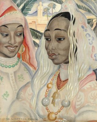 Герда Вегенер. Две марокканки