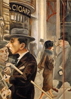 George Grosz. Street scene
