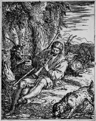 Йонас Умбах. Козопас, играющий на флейте