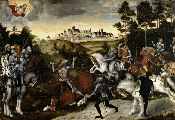 Lucas the Younger Cranach. The Conversion Of Saul