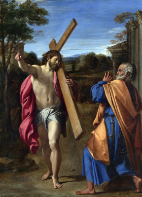 Annibale Carracci. Christ appearing to Saint Peter on the Appian way