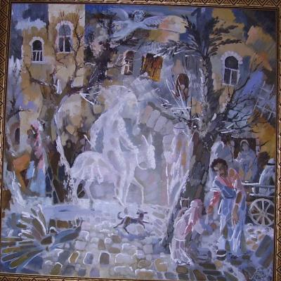 Владимир Яковлевич Акимов. Въезд Христа в Иерусалим