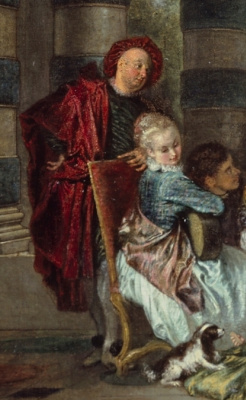 Antoine Watteau. The delights of life. Fragment