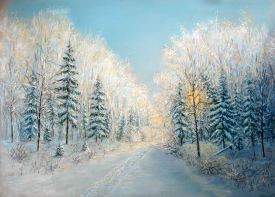 Vladimir Skvortsov. Winter road