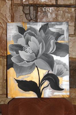 Eduard Alekseevich Titov. Gray flower.