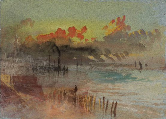 Joseph Mallord William Turner. Scene in the harbour at dawn (possibly Margaret)