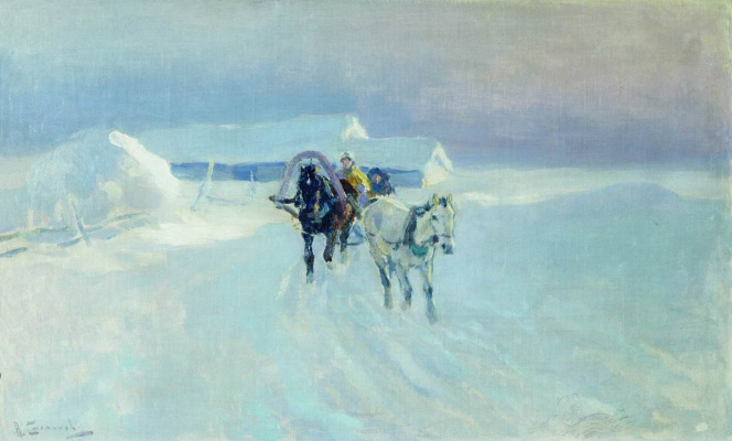 Alexey Stepanovich Stepanov. In the winter