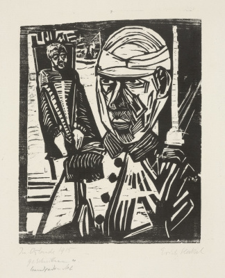 Erich Heckel. The wounded man