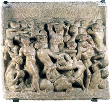 Michelangelo Buonarroti. Battle of centaurs