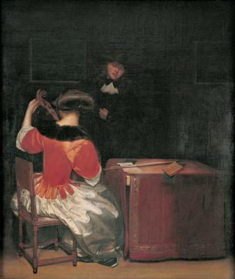 Gerard Terborch (ter Borch). Music lesson