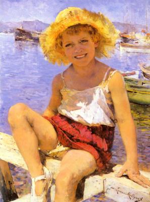 Мари Лукас Робике. Девочка в гавани