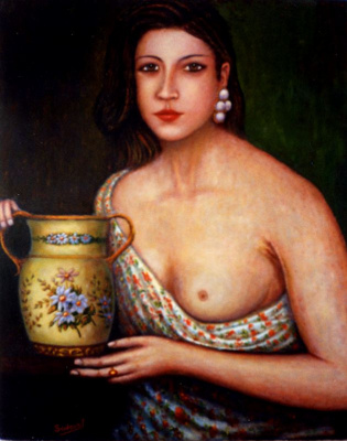 Франсиско Садорнил Сантамария. Девушка с кувшином