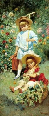 Константин Егорович Маковский. Портрет детей художника