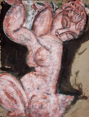 Amedeo Modigliani. Caryatid: pink