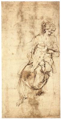 Микеланджело Буонарроти. Мадонна с младенцем