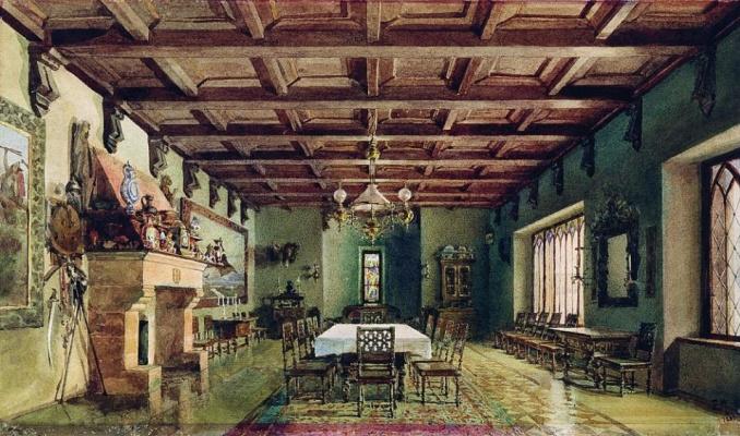Elena Dmitrievna Polenova. Dining room in the Mamontov's house on Sadovo-Spasskaya