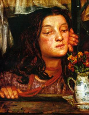 Dante Gabriel Rossetti. The girl at the gate