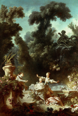 "Jean Honore Fragonard. Prosecution. From series of paintings ""Love adventure"""