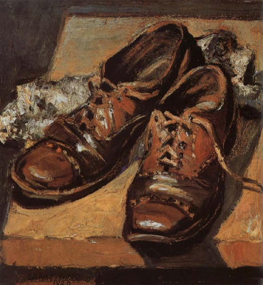 Grant Wood. Old shoes