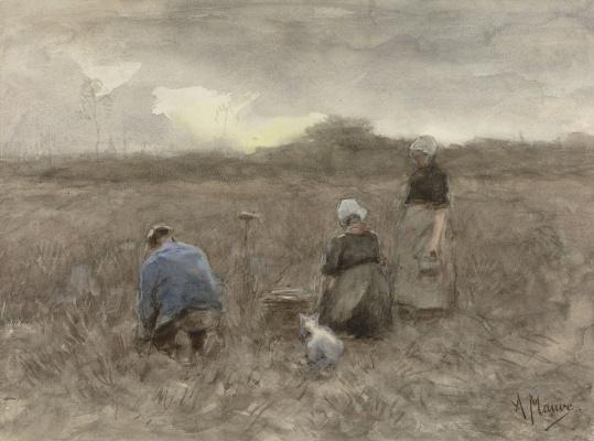 Anton Maouve. Collectors of potatoes