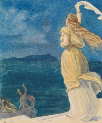 "John Everett Millais. Farewell (""Ulysses"")"