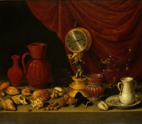 Антонио де Переда. Натюрморт с часами